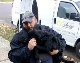 MHS rescue driver Chris with Kalamata