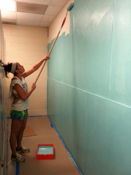 Painting the cat-intake area