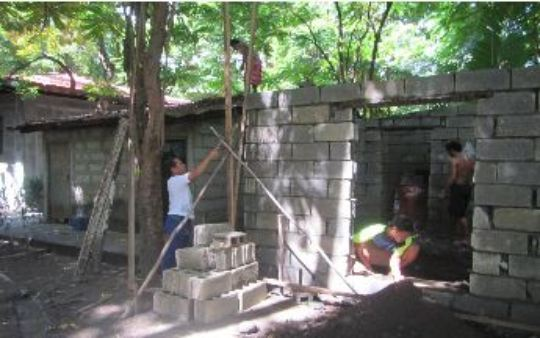 Building the Roof of the Shower Facility
