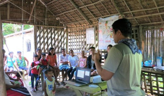 COSCA's staff member during a community workshop