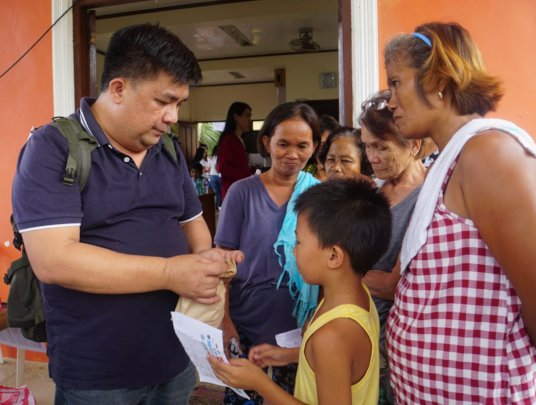 Consultation sessions during medical mission