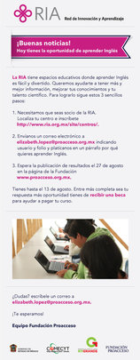 E-flyer to encourage scientists to study English