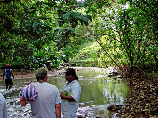 Walking the Rio Sol, Maleku Reserve, Costa Rica