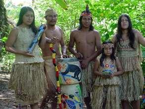 Majima, second from left, a Maleku shaman