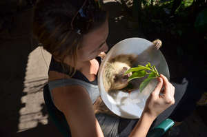 Mia feeding Zoe