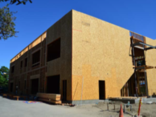 Construction progress on new school age Club