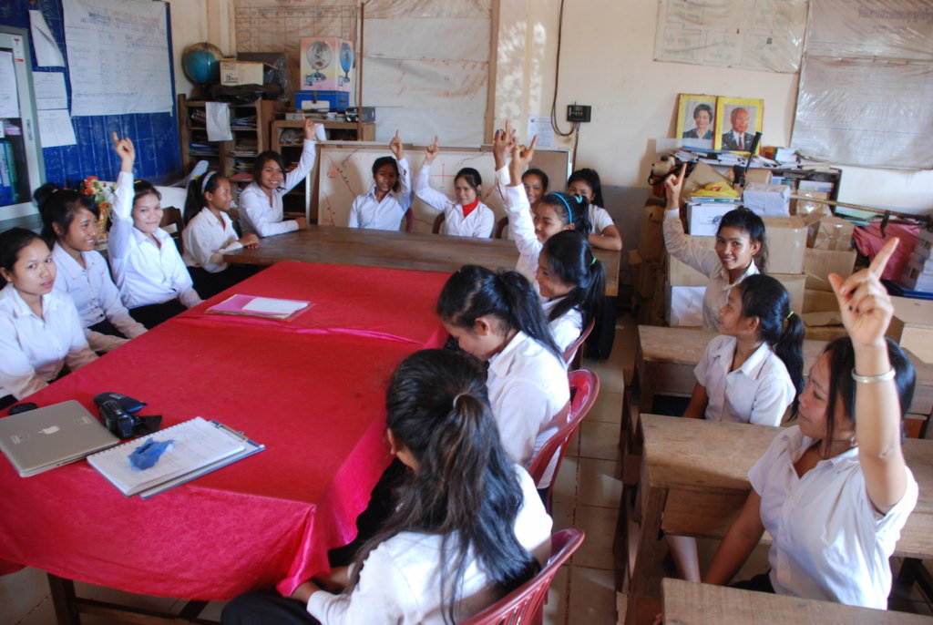 PEI students in their classroom