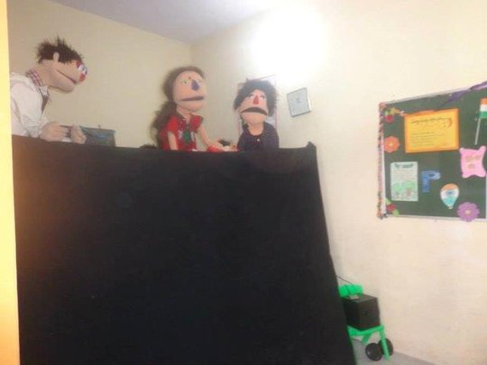 Puppet show on Health and Hygenie