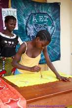Bintu at a batik workshop in Daru
