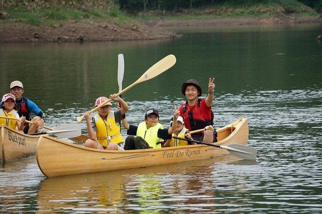 canoe down a river