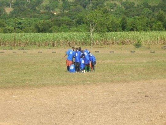 pre-game huddle