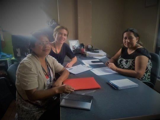 Meeting with Malacatan's Women's Affairs Director