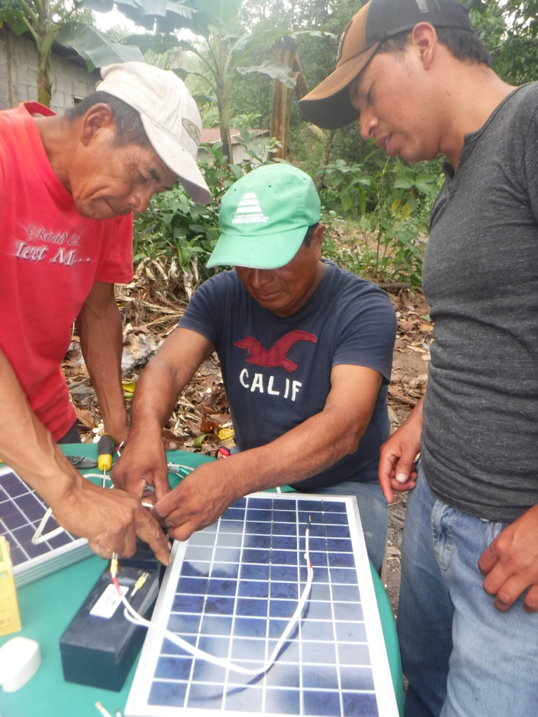 Reports On Mayan Power And Light Globalgiving Solar Powered Lamp Circuit Community Circuits Santa Isabel March 2018