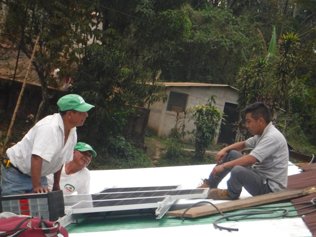 Sta Isabel helps install solar after workshop