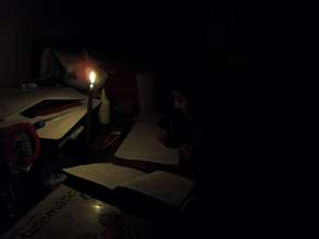 Homework by Candle Light