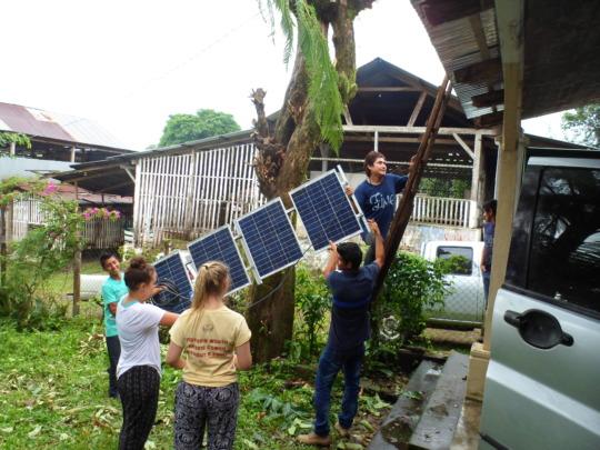 Solar panels going up!