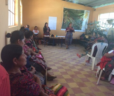 Marilena leads empowerment training in Chiche