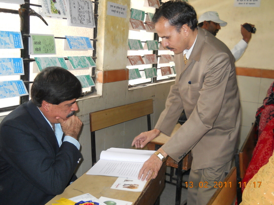 Mr.Dheerendra Sharma & a Visitor looking centre