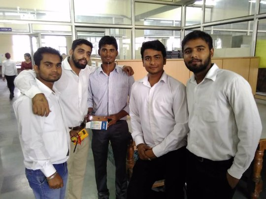 Mr. Suraj Yadav working for electronic project