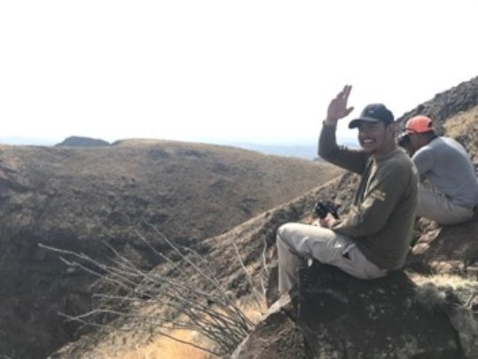 Eagle Warriors during fieldwork.