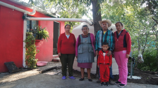 Rainwater harvesting system in Coahuila