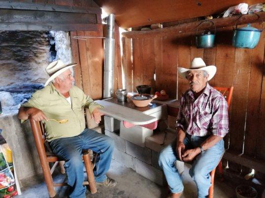 Wood-saving stove in Nuevo Leon.