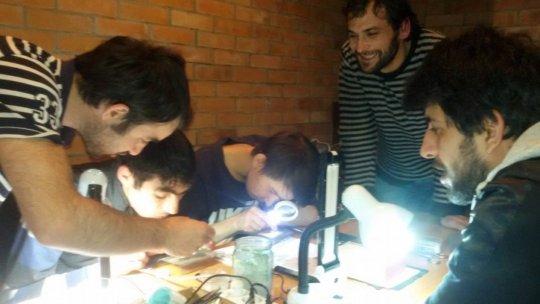 Our enamel workshop in action