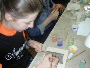 Hard at work in our enamel workshop