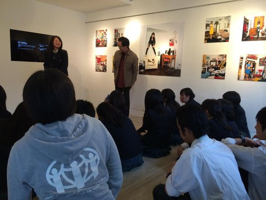 A lecture by a professional photographer