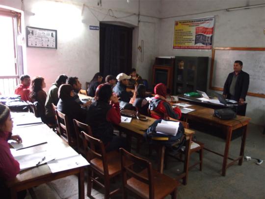 Training in Nepal