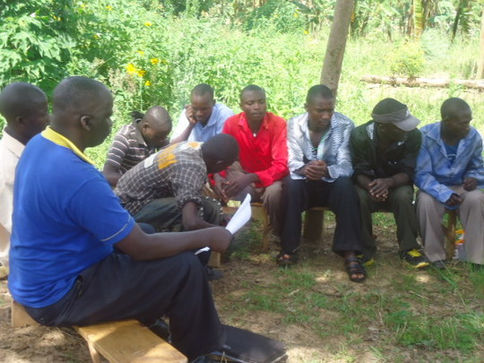 youth in a group meeting