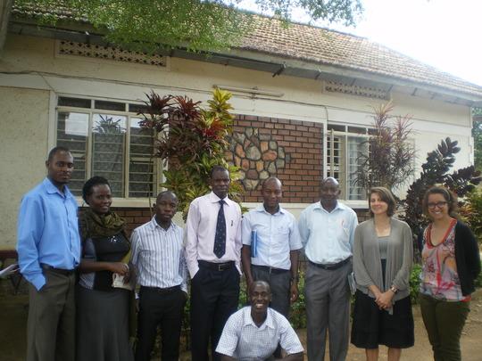 Britt lake and the management team Kitovu