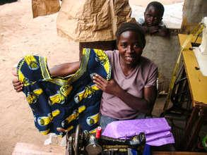 Kitambara Margaret with her work