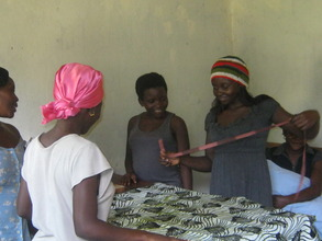 Young women learning to sew and support themselves