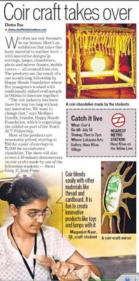 The Delhi Exhibit makes news!