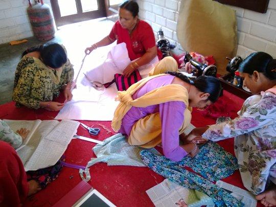 Marking, Cutting, Sewing : Teamwork!