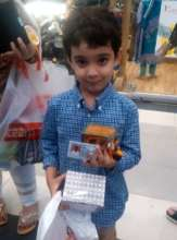 Our little supporter at The Forum Mall exhibition