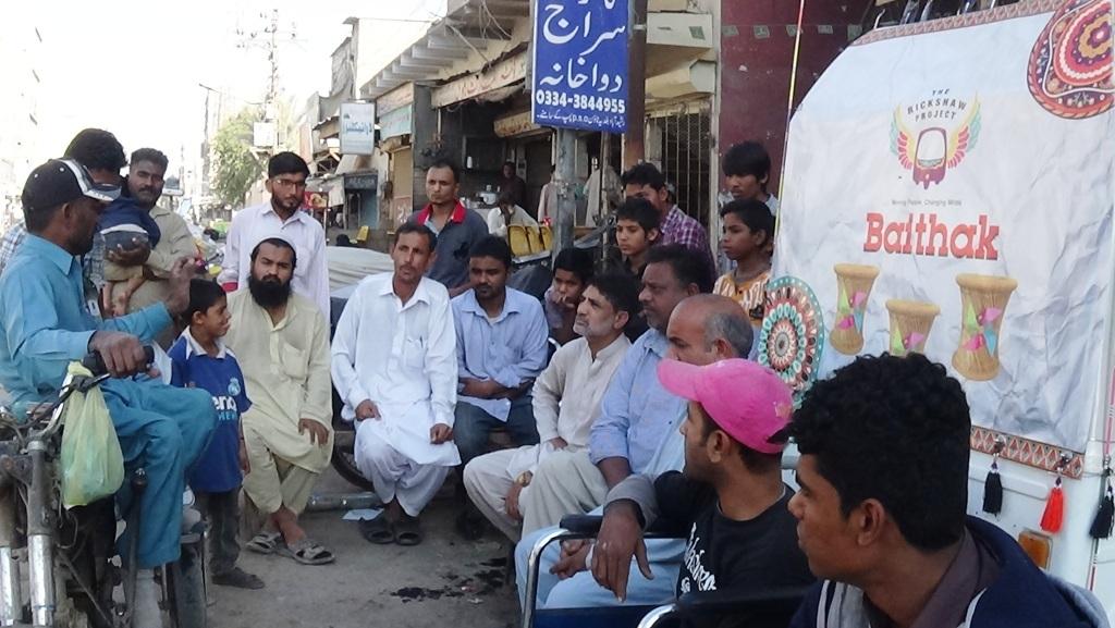 Baithak in Baldia Town led by Imran