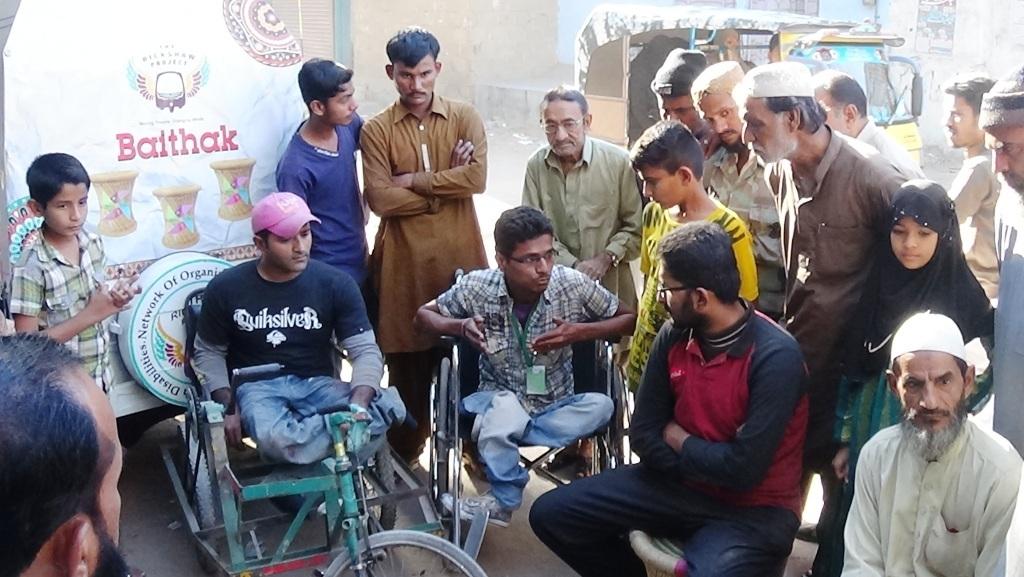 Vishal and Anwer leading Baithak in Baldia Town