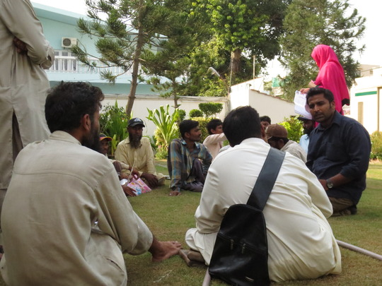 Maaz interviewing candidates for the team