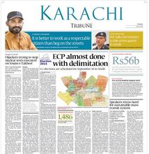Imran on the top of Express Tribune's Karachi Page