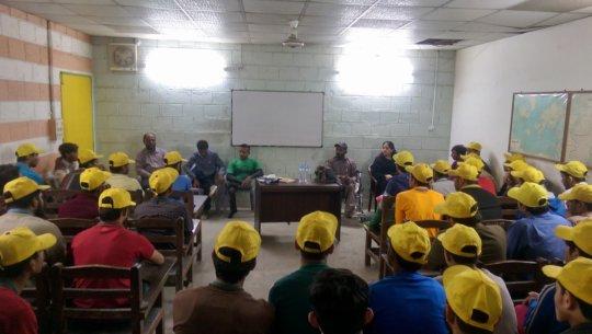 Team lecture at Karigar Training Institute