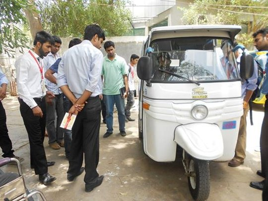 Rickshaw retrofitting orientation to NUST students