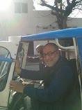 Rahul Mehrotra in our rickshaw!