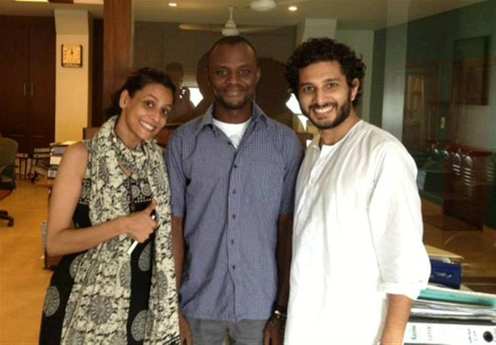 Reem and Omair with Adama, our first customer!