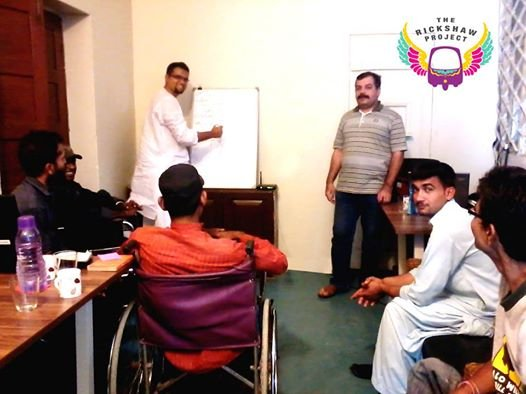 During an in-house training session