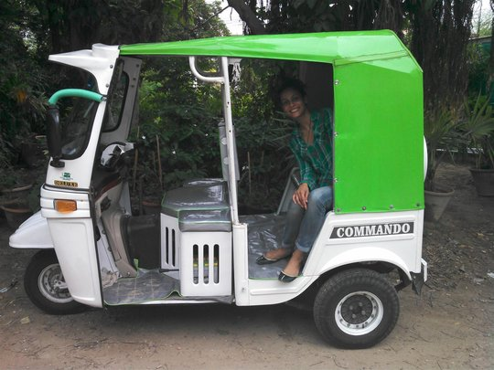 The first new rickshaw!