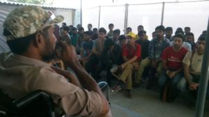 Imran speaks to students of  Karigar Training Inst
