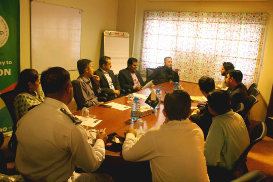 Meeting with Transport & Traffic Police reps.