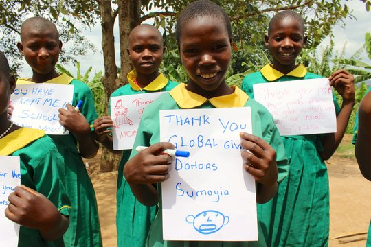 Give sanitary pads and keep young girls in school